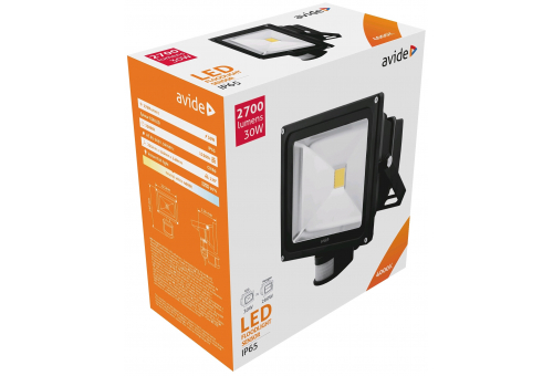 Avide LED Flood Light 30W NW 4000K PIR