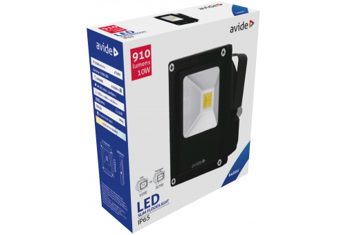 Avide LED Flood Light Slim 10W CW 6400K