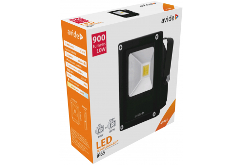 Avide LED Flood Light Slim 10W NW 4000K