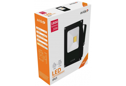 Avide LED Flood Light Slim 20W NW 4000K