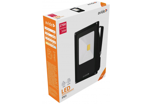 Avide LED Flood Light Slim 30W NW 4000K